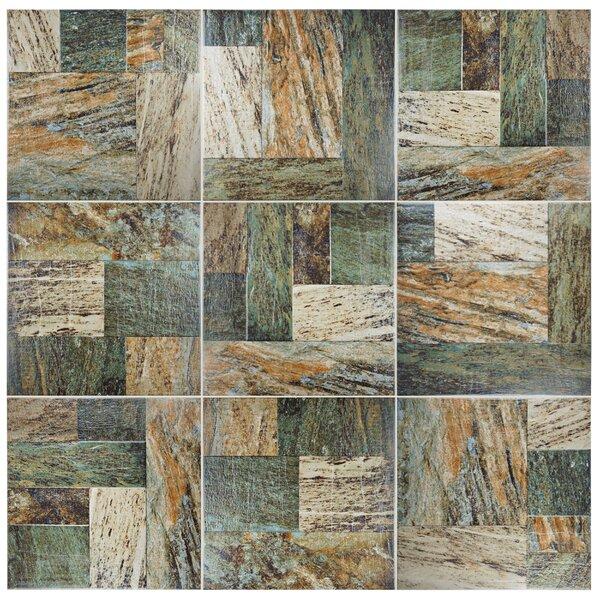 Metallo 17.38 x 17.38 Porcelain Field Tile in Slate by EliteTile