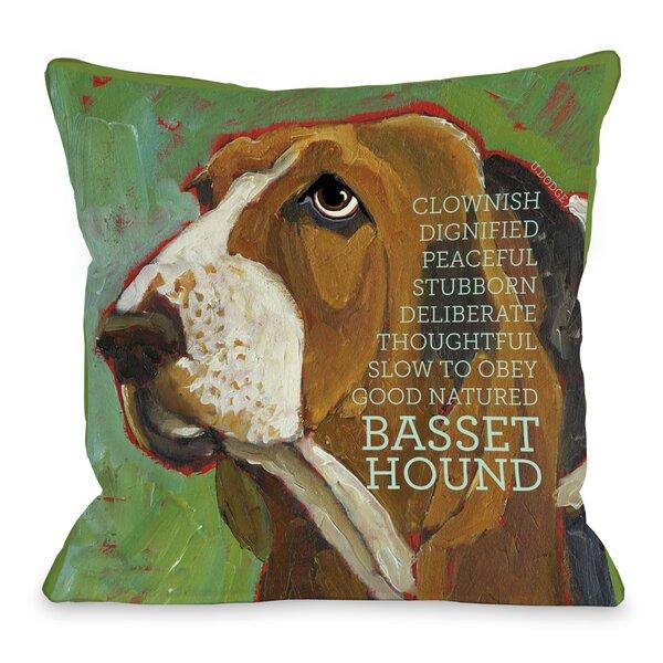 Doggy Décor Bassett Hound Throw Pillow by One Bella Casa