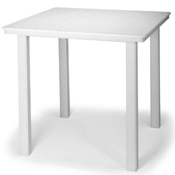 Marine Grade Polymer 42 Square Bar Height Dining Table by Telescope Casual