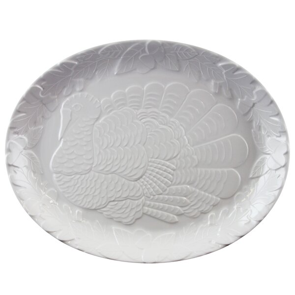Oval Traditional Holiday Serving Platter by The Holiday Aisle