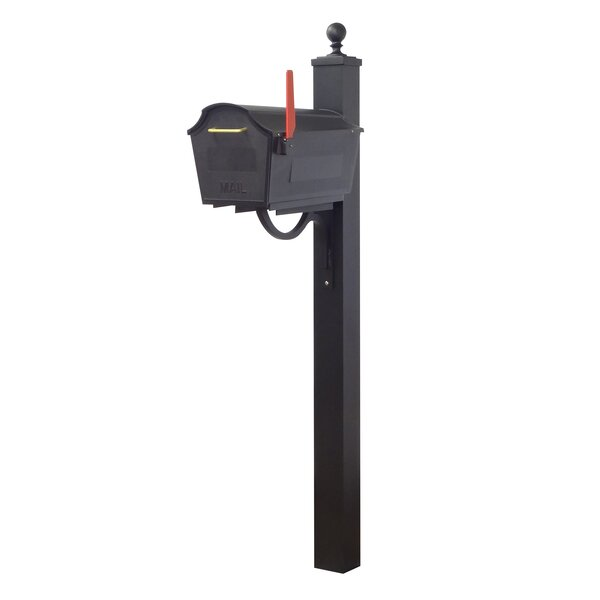 Town Square Curbside Locking Mailbox with Springfield Post Included by Special Lite Products