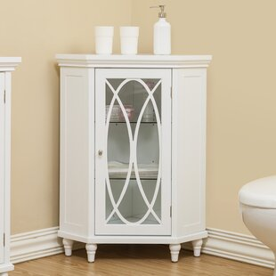 Bourbon Corner Floor 24.75  W x 32  H Cabinet & Tall Bathroom Corner Cabinet | Wayfair
