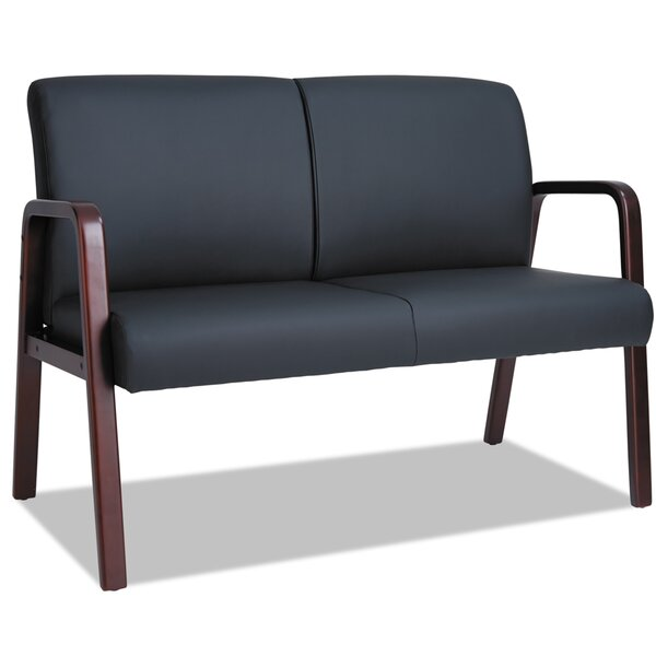 Barcia Leather Guest Chair by Ebern Designs