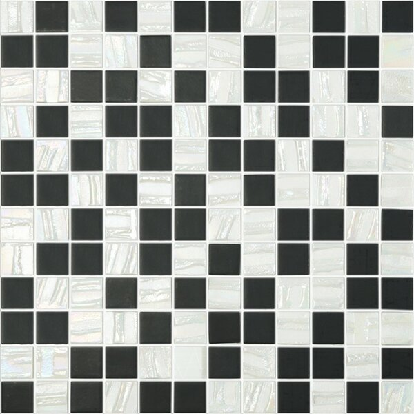 Moon Blends 12.375 W x 12.375 L Eco Glass Mosaic in White Comet by Kellani
