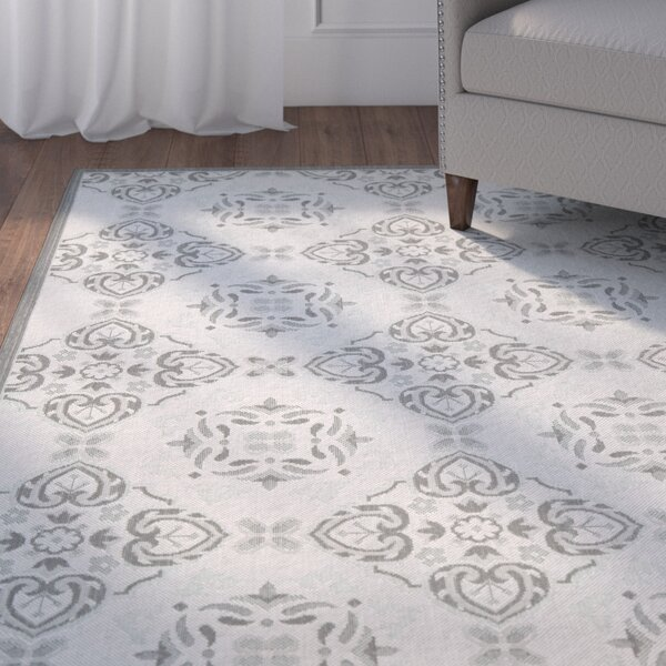 Herefordshire Light Grey/Anthracite Indoor/Outdoor Synthetic Rug by Winston Porter