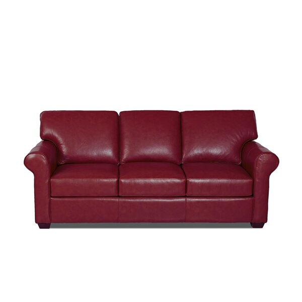 Rachel Leather Sofa By Klaussner Furniture