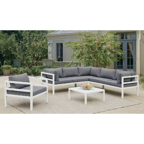Dussault 3 Piece Conversation Set with Cushions by Rosecliff Heights