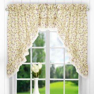 Chasville Ruffled Swag 58 Curtain Valance (Set of 2)