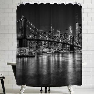 Melanie Viola New York City Nightly Impressions Shower Curtain