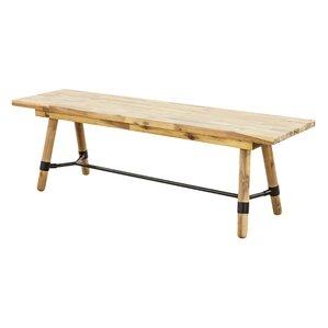 Fiatt Wood Bench by Laurel Foundry Modern Farmhouse