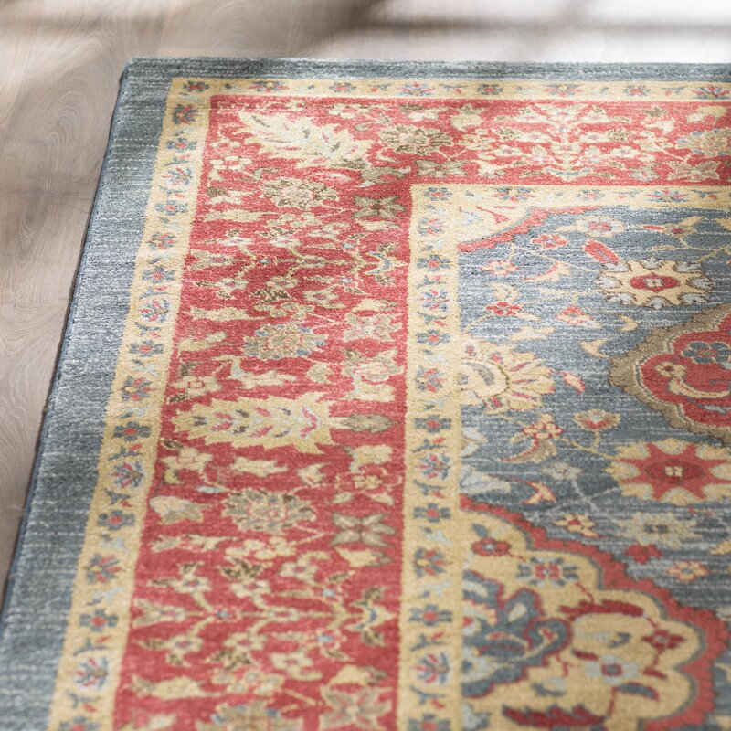 Pennypacker Red Blue Area Rug