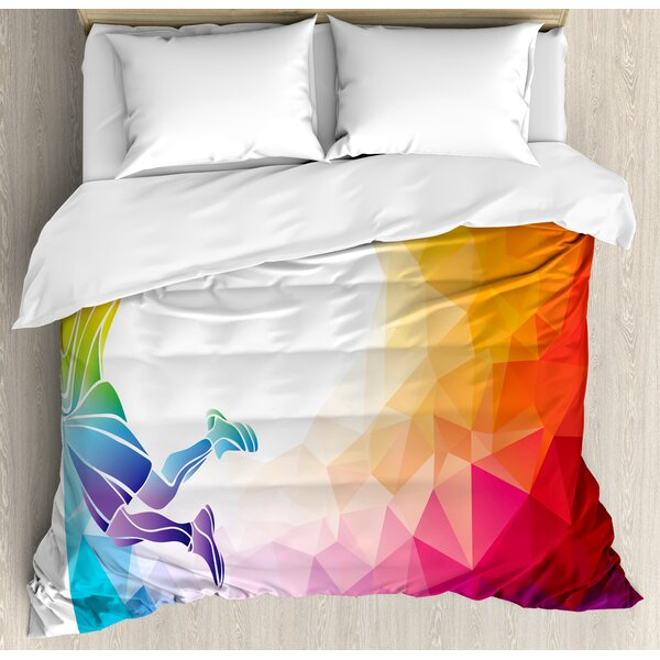 Apartment a Basketball Player Sports Man Jumps Print Duvet Set by Ambesonne