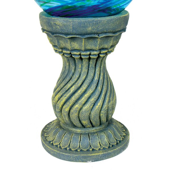 Serpentine Globe Pedestal by Echo Valley