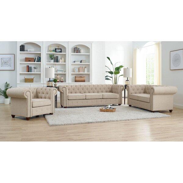 Schooley 3 Piece Living Room Set by Alcott Hill Alcott Hill