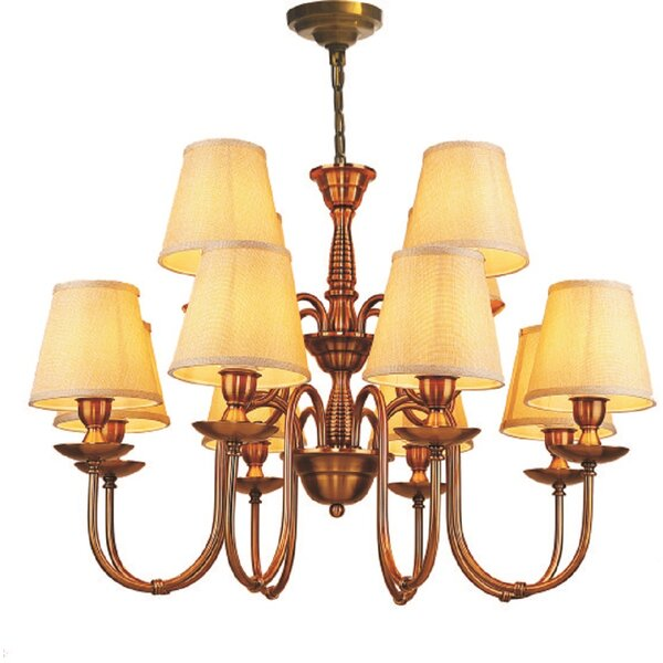 Enedina 12-Light Shaded Tiered Chandelier By Astoria Grand