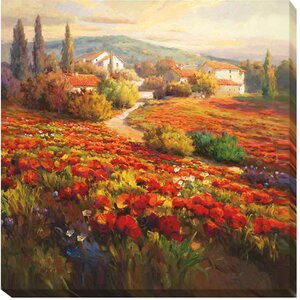 Poppy Fields by Roberto Lombardi Painting Print on Wrapped Canvas by Artistic Home Gallery