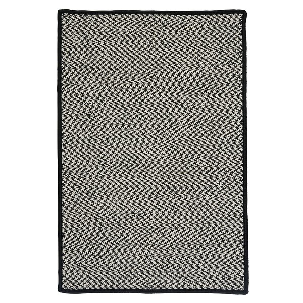 Outdoor Houndstooth Tweed Black Rug by Colonial Mills