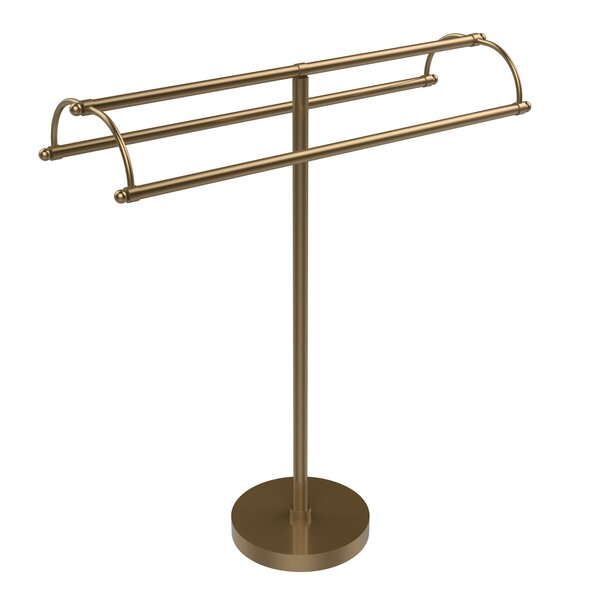 Double Arm Free Standing Towel Stand by Allied Brass