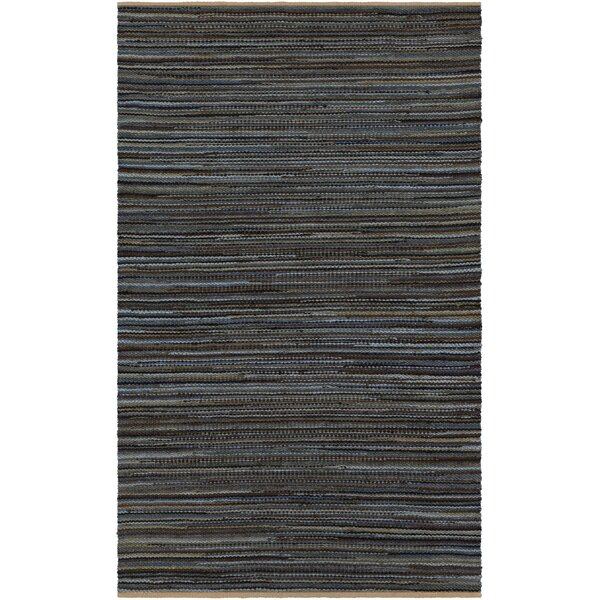 Pitcher Hand-Woven Gray/Black Area Rug by Gracie Oaks