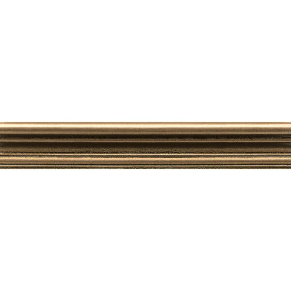 Ambiance Chair Rail 2 x 12 Resin Tile in Bronze by Bedrosians