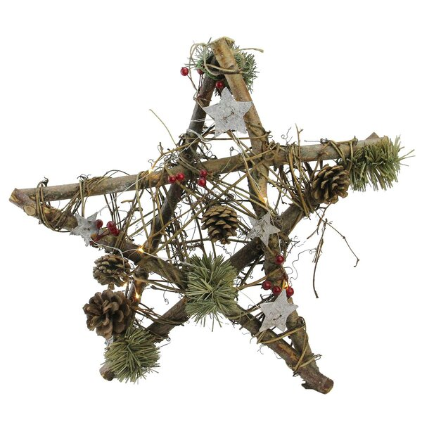 Star with Pine Cones Christmas Shaped Ornament by The Holiday Aisle