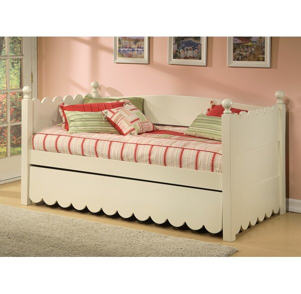 reputable site d6382 c9a13 Scallop Twin Daybed with Pop-Up Trundle