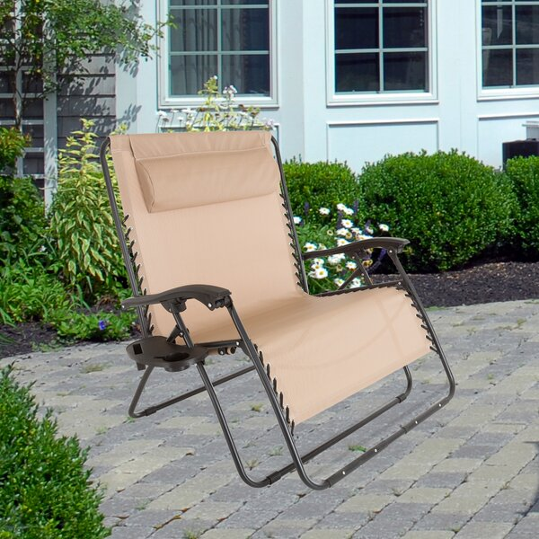 Reclining Zero Gravity Chair by Pure Garden Pure Garden