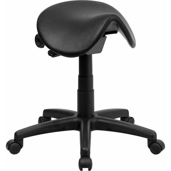 Krull Backless Saddle Height Adjustable Multipurpose Stool by Symple Stuff