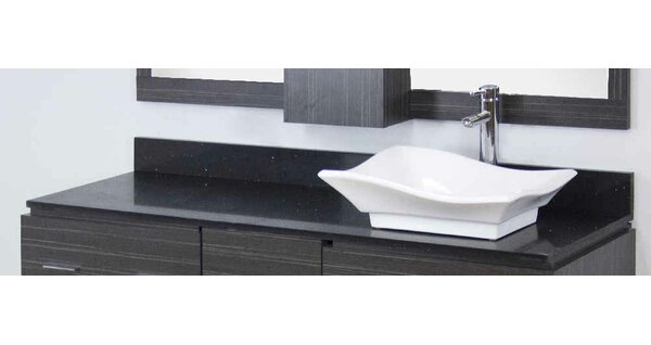 Dunamuggy 60 Wall-Mounted Single Bathroom Vanity Set by Royal Purple Bath Kitchen