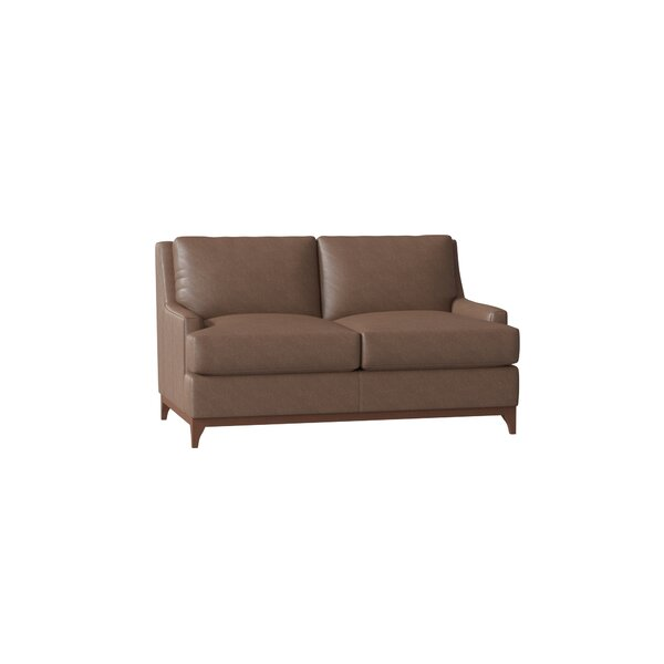 Filkins Leather Loveseat By Union Rustic