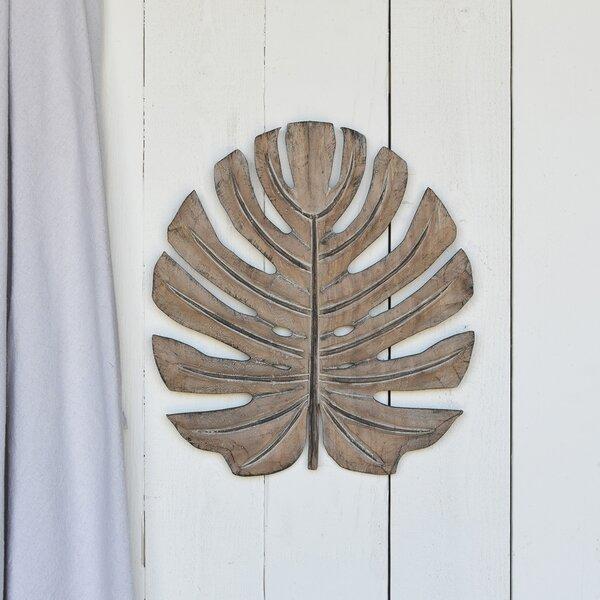 Hilda Monstera Leaf Wood Sculpture by Bay Isle Home