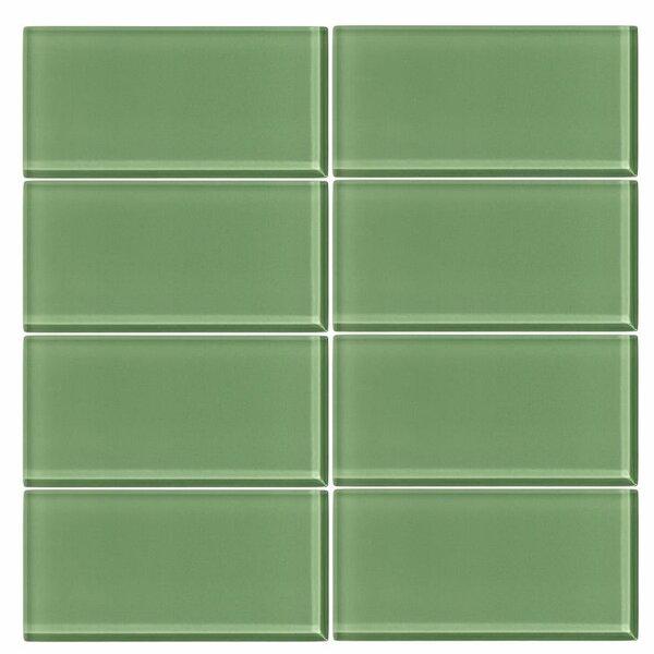 3 x 6 Glass Subway Tile in Pistachio by Vicci Design