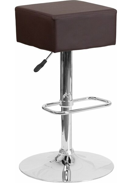 Whelan Backless Adjustable Height Swivel Bar Stool by Orren Ellis