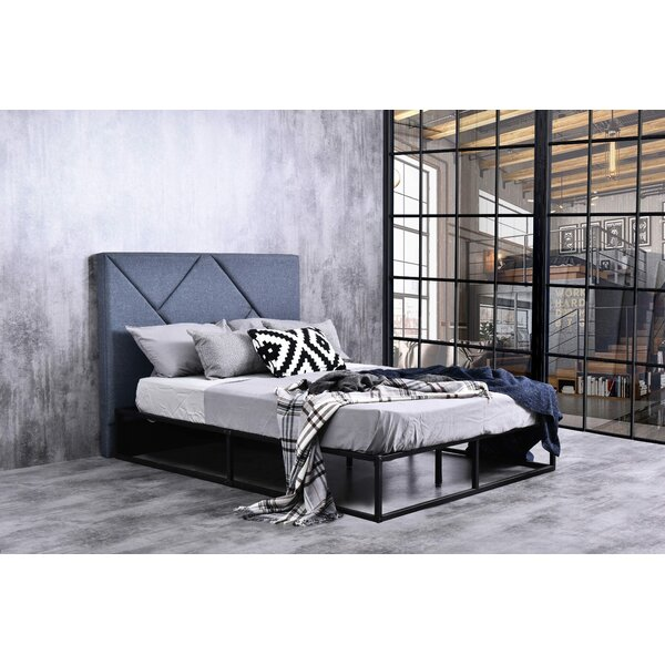 Brixton Queen Upholstered Platform Bed by Modern Rustic Interiors