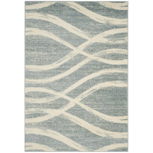 Marlee Cream/Slate Blue Area Rug by Willa Arlo Int