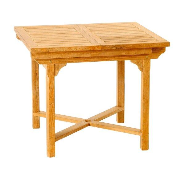 Teak Solid Wood Patio Table by Les Jardins Les Jardins