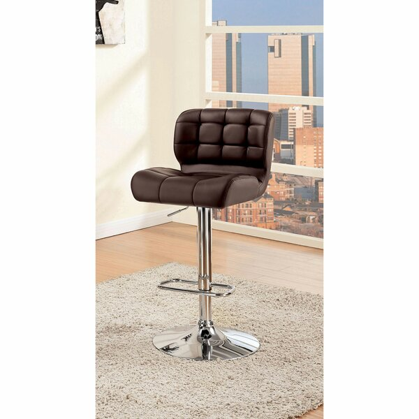 Quintin Adjustable Height Swivel Bar Stool by Orren Ellis