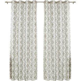 fancy plush design moorish tile curtain. Save to Idea Board Gray Trellis Curtains  Wayfair
