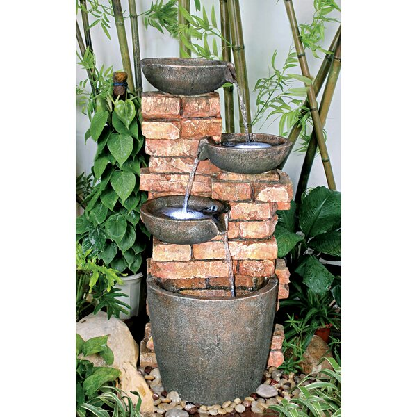 Stacked Bricks Cascading Garden Fountain with LED Light by Wildon Home ®