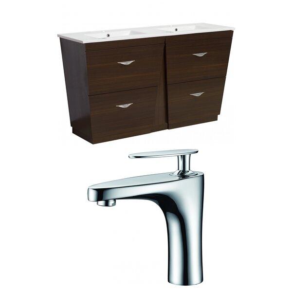 Vee 48 Double Bathroom Vanity Set by American Imaginations