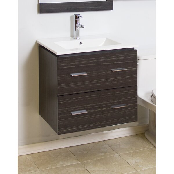24 Single Modern Wall Mount Bathroom Vanity Set by American Imaginations
