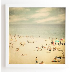 Vintage Beach Framed Photographic Print by East Urban Home