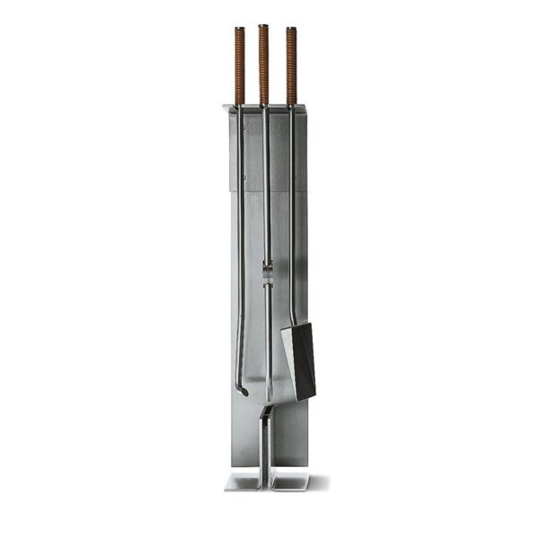 Peter Maly 3 Piece Wall-mounted Steel Fireplace Tools by Conmoto
