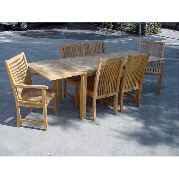 Farnam 7 Piece Teak Dining Set by Rosecliff Heights