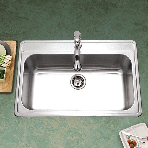 Premiere Gourmet 33 L x 22 W Topmount Single Bowl Kitchen Sink
