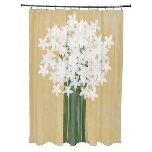 Amanda Paperwhites Floral Print Shower Curtain ByAugust Grove