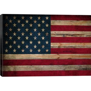 'USA Flag Planks' Graphic Art Print by East Urban Home