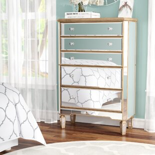 Orpha 5 Drawer Standard Dresser ByRosdorf Park