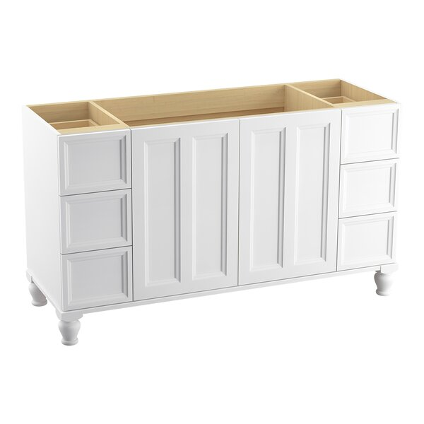 Damask™ 60 Vanity with Furniture Legs, 2 Doors and 6 Drawers, Split Top Drawers by Kohler