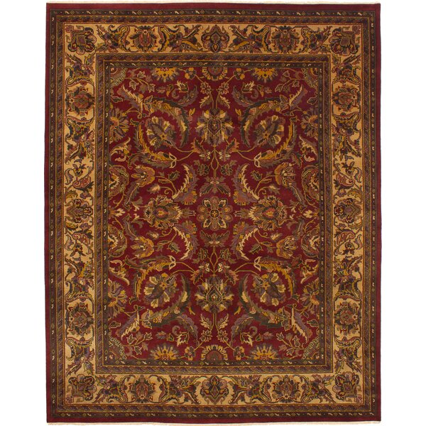 One-of-a-Kind Donley Hand-Knotted Dark Red Wool Area Rug by Isabelline